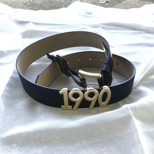 NWT Small Black Steve Madden 1990 Belt